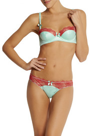 L'Agent by Agent Provocateur Marisela lace-trimmed stretch-satin balconette bra