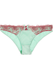 L'Agent by Agent Provocateur Marisela lace-trimmed stretch-satin briefs