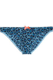 Leonara leopard-print stretch briefs