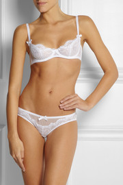 L'Agent by Agent Provocateur Vanesa stretch-lace and tulle briefs