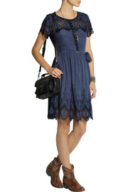 Collette by Collette DinniganIbiza embroidered cotton and silk-blend dress