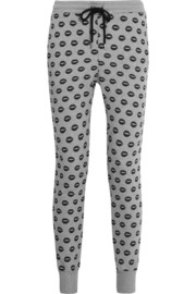 Markus Lupfer Smacker lip-print cotton track pants