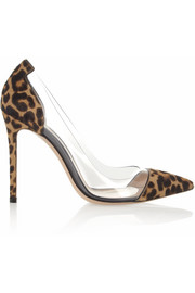 Gianvito Rossi Leopard-print calf hair and PVC pumps