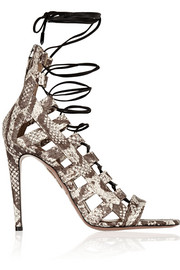 Aquazzura Amazon elaphe sandals