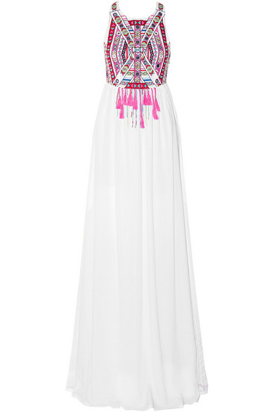 Sale alerts for Embroidered voile maxi dress Mara Hoffman - Covvet