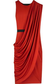 La Petite S***** Draped satin dress