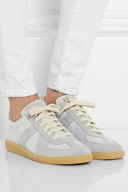 Maison Martin Margiela Leather and suede sneakers