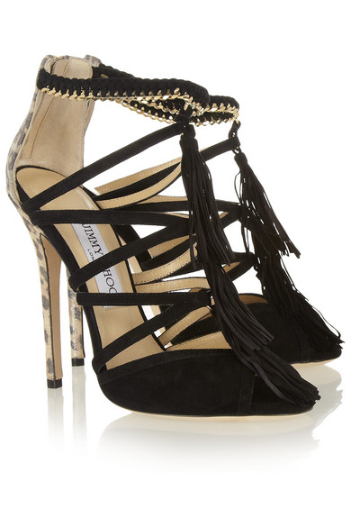 jimmy choo flambe tasseled suede sandals net a porter com rh net a porter com