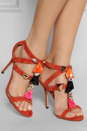 Jimmy ChooSunrise embellished suede sandals