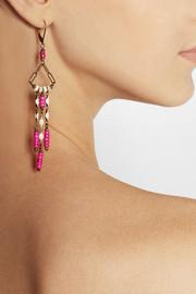 Isabel MarantYakata gold-tone, howlite and resin earrings