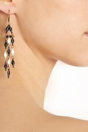 Isabel MarantKimpatsu gold-tone resin earrings