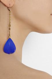 Isabel MarantRaya gold-tone feather earrings