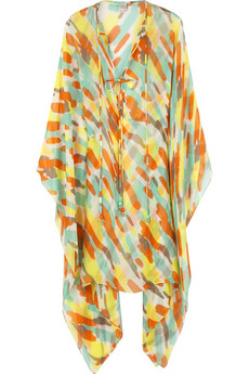 Milly Printed silk kaftan