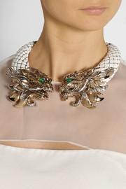 Roberto CavalliDragon gold-plated, enamel and Swarovski crystal necklace