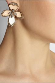 Roberto CavalliLotus Flower gold-tone Swarovski crystal earrings