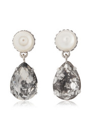 Givenchy Cone pendant earrings in mother-of-pearl and crystal