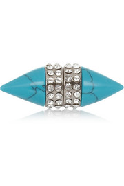 Givenchy Small Double Cone Shark earring in faux turquoise