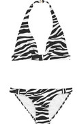 Michael KorsZebra-print bikini