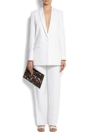 Givenchy White stretch-cady blazer