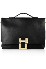Sophie Hulme Soft Flap leather satchel