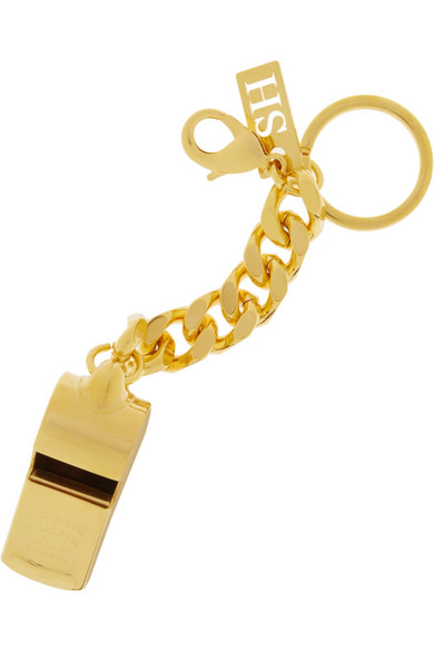 Gold Tone Whistle Keychain by Sophie Hulme