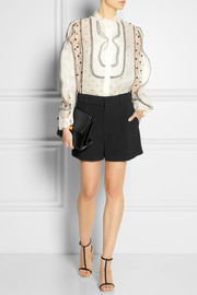 Chloé Pleated cady shorts
