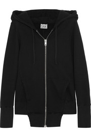 Fencing cotton-fleece hooded top