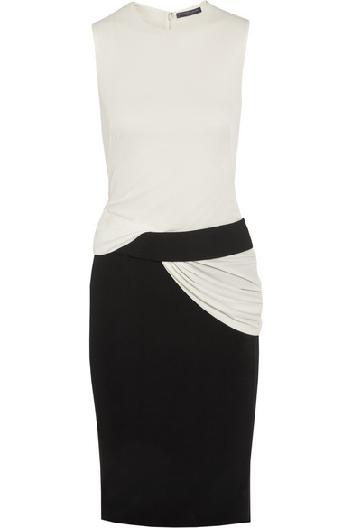 Alexander McQueen Two-tone stretch-jersey dress