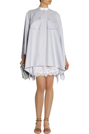 Alexander McQueenOversized stretch-cotton piqué shirt dress