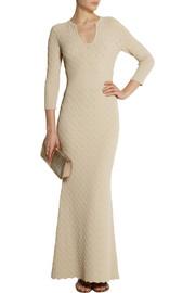 Alexander McQueenTextured-knit maxi dress