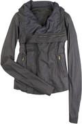 Rick Owens Washed leather biker jacket