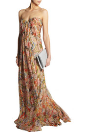 Alexander McQueenFloral-print silk-chiffon gown
