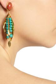 Aurélie BidermannMonteroso gold-plated turquoise clip earrings