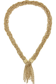 Aurélie Bidermann Miki gold-plated rope necklace