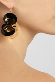 MarniGold-tone resin earrings