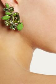 ValentinoGold-plated Swarovski crystal earrings