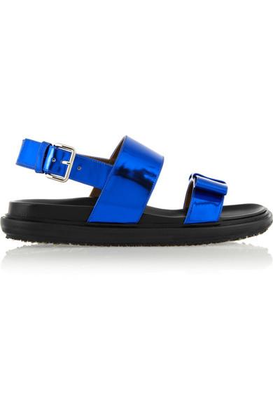 37c4b7cbf685 Marni. Metallic leather sandals