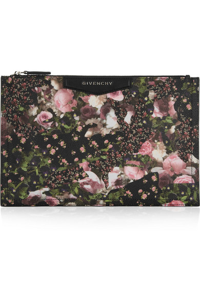 0300f734208 Givenchy   Antigona pouch in floral-print coated canvas   NET-A-PORTER.COM