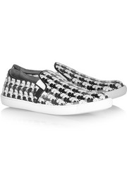 Karl Lagerfeld Karl-print coated-canvas slip-on sneakers