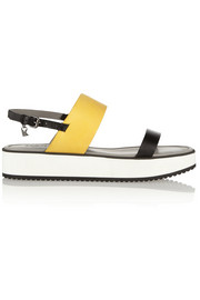 Karl Lagerfeld Color-block matte-leather sandals