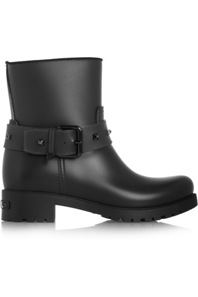 502414ad4f4 Karl Lagerfeld | Rubber biker rain boots | NET-A-PORTER.COM