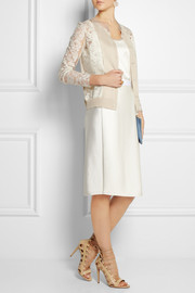 Lanvin Lace and silk-blend cardigan