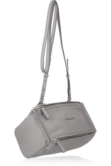 0b88cf6bbeb Givenchy | Mini Pandora bag in gray textured-leather | NET-A-PORTER.COM