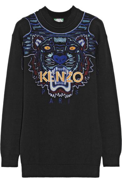 kenzo老虎头毛衣