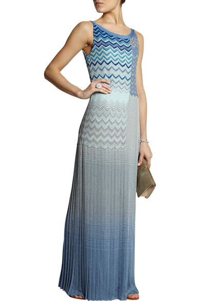 Missoni  Metallic crochet-knit maxi dress  NET-A-PORTER.COM