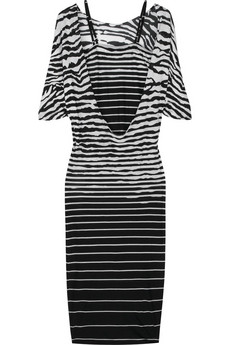 McQ Zebra stripe jersey dress