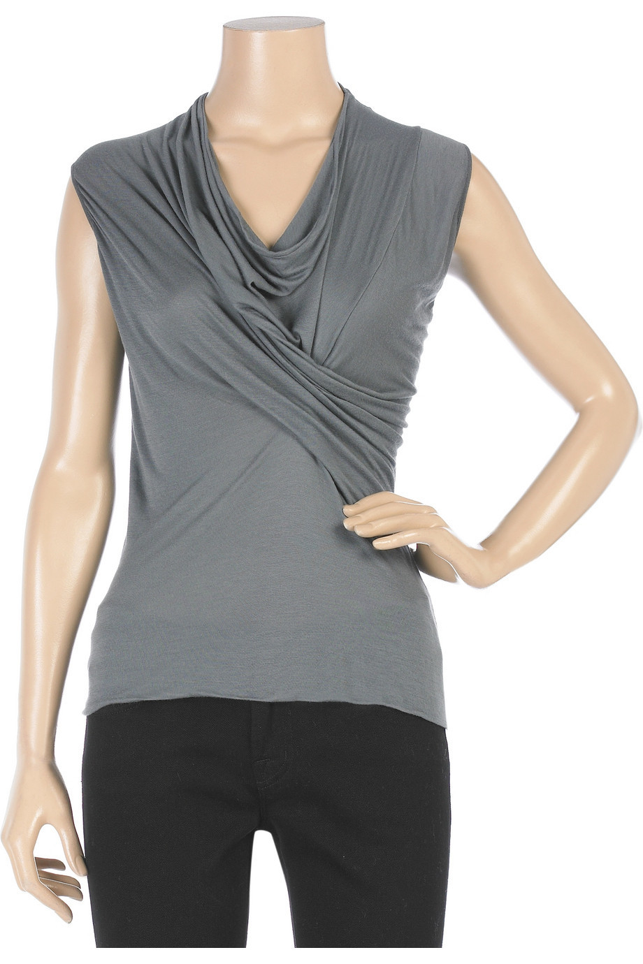 Rick Owens Lilies Twisted front top  | NET-A-PORTER.COM from net-a-porter.com