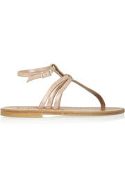 K Jacques St Tropez Metallic leather sandals