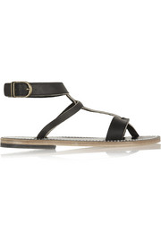 K Jacques St Tropez Corvette leather sandals