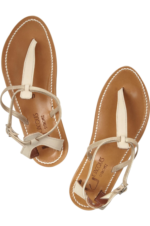K Jacques St Tropez Buffon T-bar leather sandals